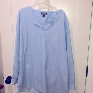 Lands Ends cotton tunic in blue!